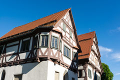 Case con mattoni a vista rosse in francia fotografia stock for Casa tradizionale tedesca