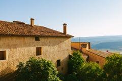 Architettura in Riglos, Huesca, l'Aragona Immagini Stock