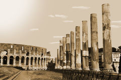 Architettura romana Fotografie Stock