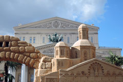 Architettura sabbiosa Decorazioni di Pasqua a Mosca Fotografia Stock