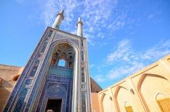 Architettura sbalorditiva della moschea di Jameh Immagini Stock Libere da Diritti