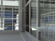 Architettura: scala e finestre Immagini Stock Libere da Diritti