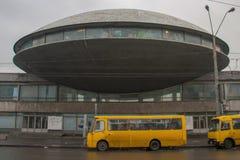 Architettura sovietica a Kiev, Ucraina fotografia stock
