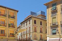 Architettura spagnola di stile dell'annata Fotografia Stock