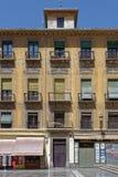 Architettura spagnola di stile dell'annata Fotografia Stock Libera da Diritti