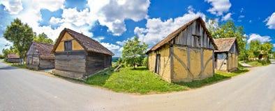 Architettura storica del villaggio rurale in Croazia Immagine Stock Libera da Diritti