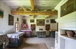 Architettura storica tradizionale delle case ucraine Fotografia Stock Libera da Diritti