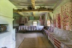 Architettura storica tradizionale delle case ucraine Fotografie Stock