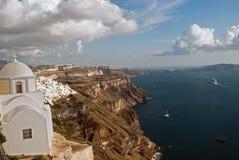 Architettura sull'isola di Santorini Fotografie Stock