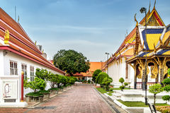 Architettura tailandese classica in museo nazionale di Bangkok, Tailandia Fotografie Stock