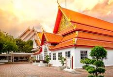 Architettura tailandese classica in museo nazionale di Bangkok, Tailandia Fotografia Stock