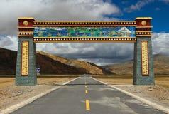 Architettura tibetana Fotografia Stock