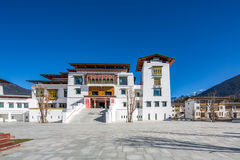 Architettura tibetana Fotografia Stock Libera da Diritti