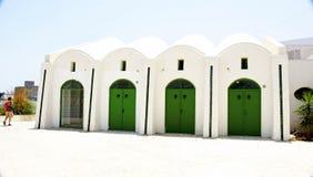 Architettura tipica nel porto di La Goletta Fotografie Stock Libere da Diritti