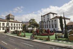 Architettura tipica nella città di Funchal Madera immagine stock