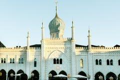 Architettura a Tivoli a Copenhaghen fotografia stock