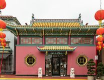 Architettura tradizionale in Chinatown, Los Angeles California Fotografie Stock