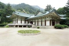 Architettura tradizionale del Korea di Nord Fotografia Stock Libera da Diritti
