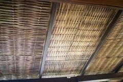 Architettura tradizionale del tetto di bambù Immagini Stock