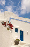Architettura tradizionale del villaggio di OIA sull'isola di Santorini Immagini Stock
