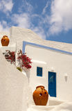 Architettura tradizionale del villaggio di OIA sull'isola di Santorini Fotografie Stock Libere da Diritti