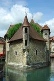 Architettura tradizionale di Annesy, Francia Immagine Stock