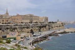 Architettura tradizionale a La Valletta, Malta Immagini Stock