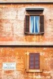 Architettura tradizionale sul della Chiesa Nuova, Roma della piazza Immagine Stock