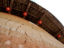 Architettura Tulou-speciale del Fujian della Cina Immagini Stock Libere da Diritti