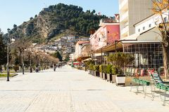Architettura unica di Berat Fotografia Stock Libera da Diritti