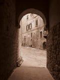 Architettura-Volterra medioevale Italia Immagini Stock Libere da Diritti