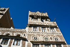 Architettura yemenita tipica, Sanaa (Yemen). Immagini Stock Libere da Diritti