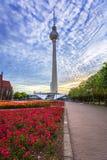 Architeture του κέντρου πόλεων και του πύργου TV στο Βερολίνο Στοκ Εικόνα
