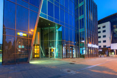 Architeture of Neptune Tower in Gdansk at night Royalty Free Stock Photos