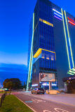 Architeture of Neptune Tower in Gdansk at night Royalty Free Stock Photography