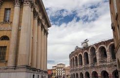 Architeture of the Piazza Bra,verona. Royalty Free Stock Photo