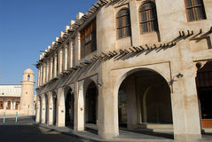 Architeture in Souq Waqif Stockbilder
