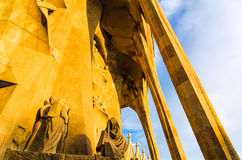 Architucture details of the Sagrada Familia, Barce Royalty Free Stock Photography