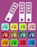 Archiv-Mappen-Ikone mit Farbveränderungen Lizenzfreie Stockfotografie