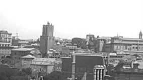Archival aerial view of Roman Forum stock footage