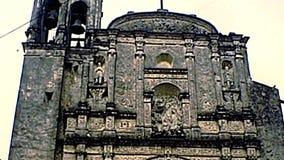 Archival Catedral de Cuernavaca du Mexique banque de vidéos