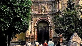 Archival Catedral de Cuernavaca in Mexiko stock video