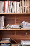 Archival documents folders Stock Image