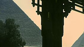 Archival Great Giza Pyramid from Valley Temple stock video