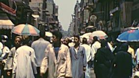 Archival Khan Al-Khalili Bazaar souq stock video footage