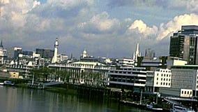 Archival London bridge in Westminster stock video