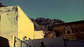 Archival St Catherine Monastery cloister of Sinai stock video