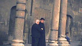 Archival Tarragona Cathedral priests stock video