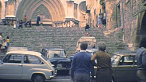 Archival Tarragona Cathedral stock footage