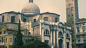 Archival Venice San Geremia church stock video footage